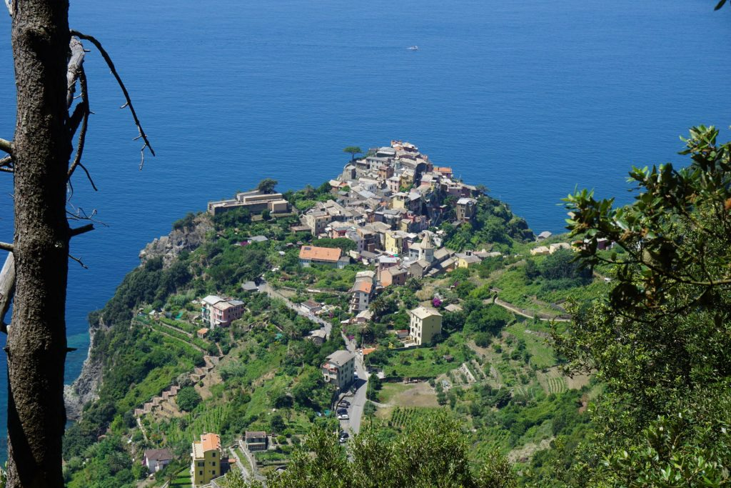 Hiking out of Corniglia in Cinque Terre