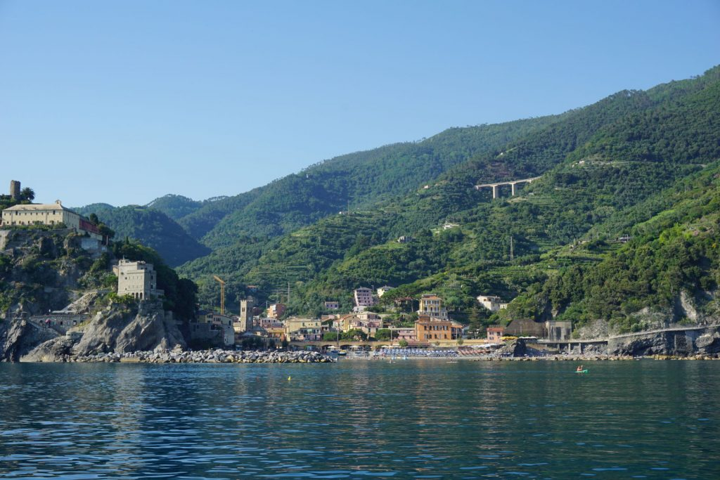 Approaching Monterosso on a boat