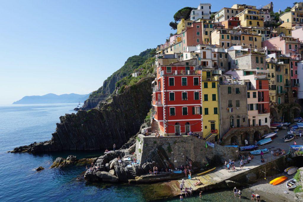 View of Riomaggiore in Cinque Terre