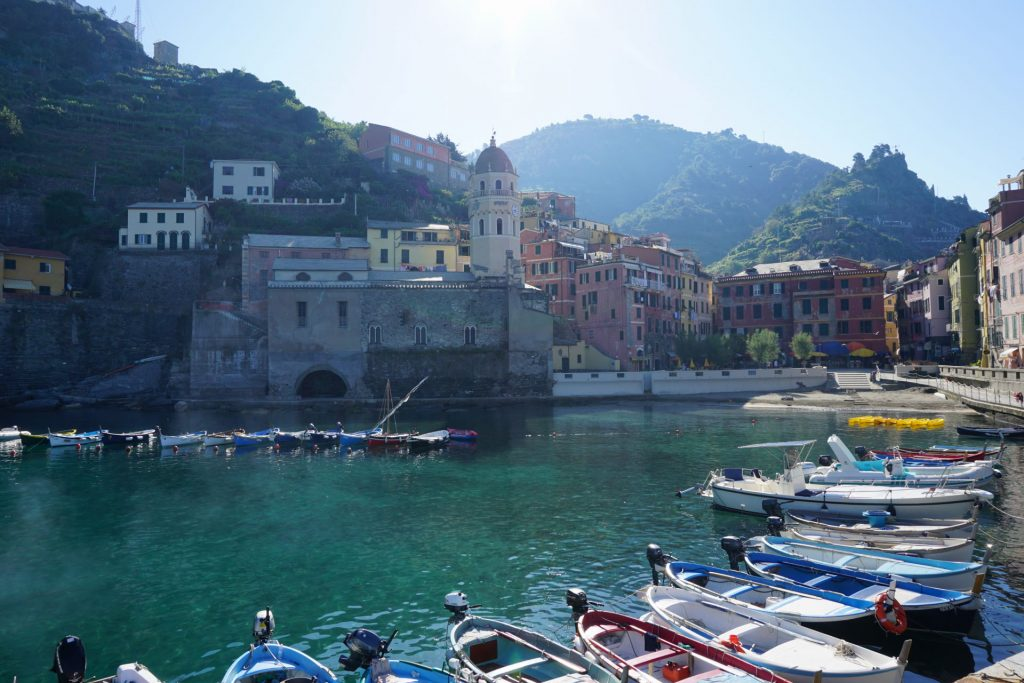 Vernazza harbor in beautiful Cinque Terre