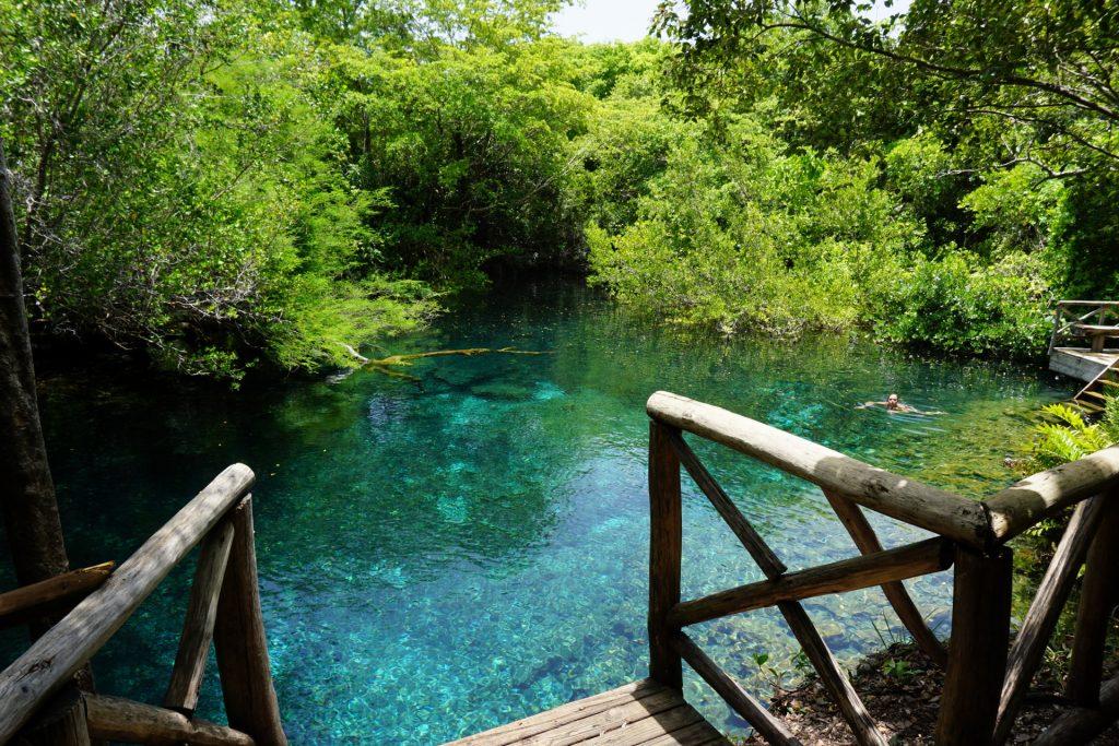 Fresh water laguna at Punta Cana