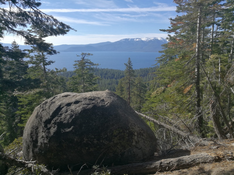 Hiking Marlette Lake Trail in Lake Tahoe