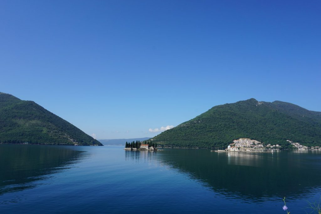 Islands in the Bay of Kotor near Perast, Montenegro