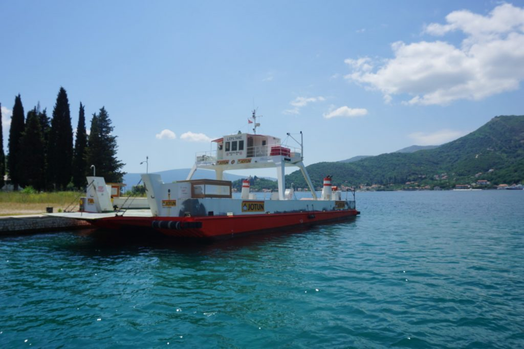 Ferry in Lepetane, Montenegro