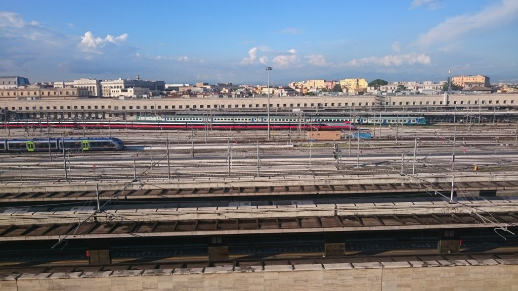 View of Rome Train Station from Radisson Blu