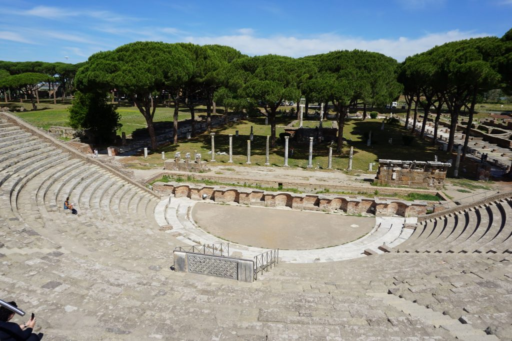 Ostia Antica Theater near Rome