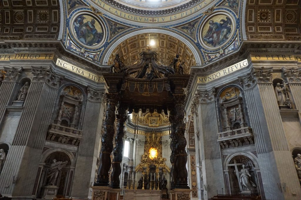 Vatican City inside St Peter's Basilica