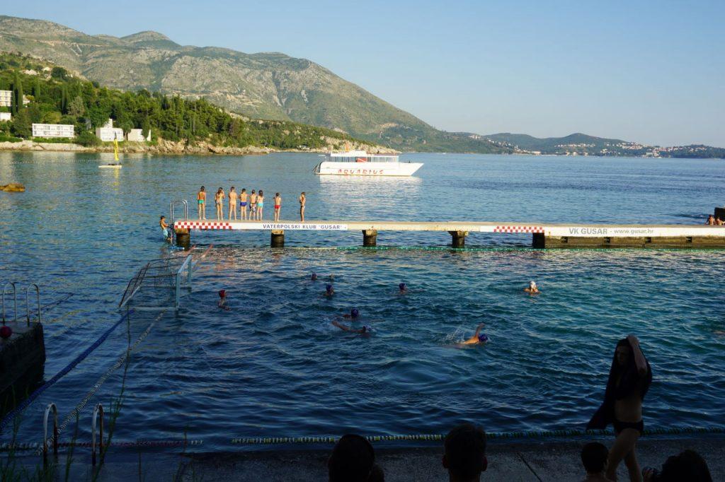 Sheraton Dubrovnik playing water polo in the Adriatic Sea