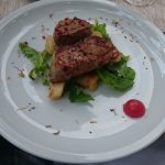 Chicken and polenta from Restaurant Puntižela in Mlini, Croatia