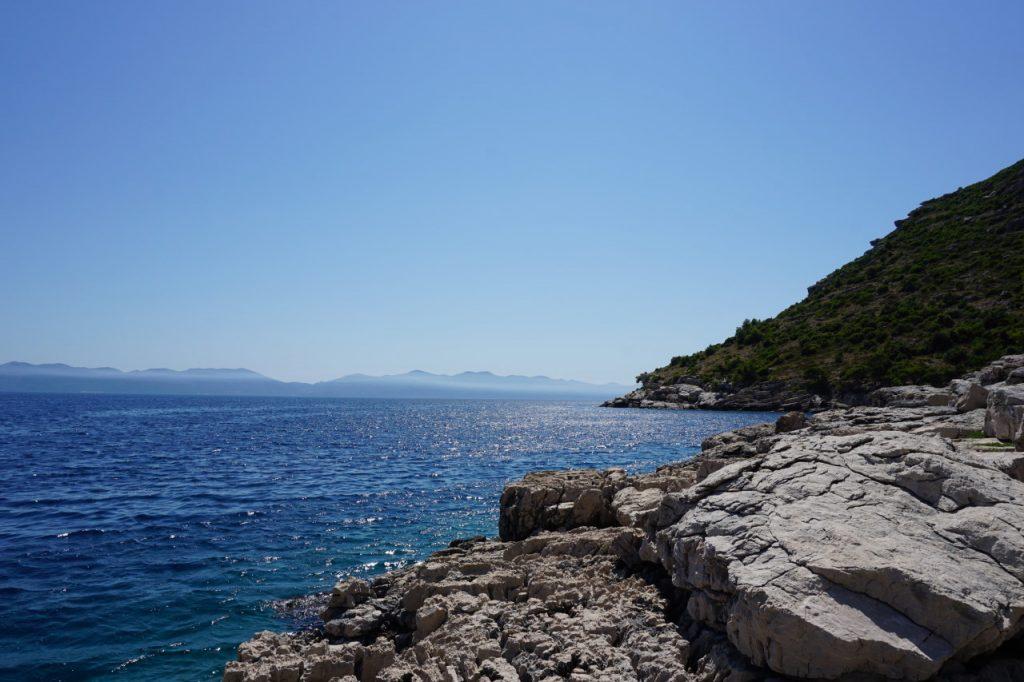 The nearby nude beach by Prapratno Beach, Croatia