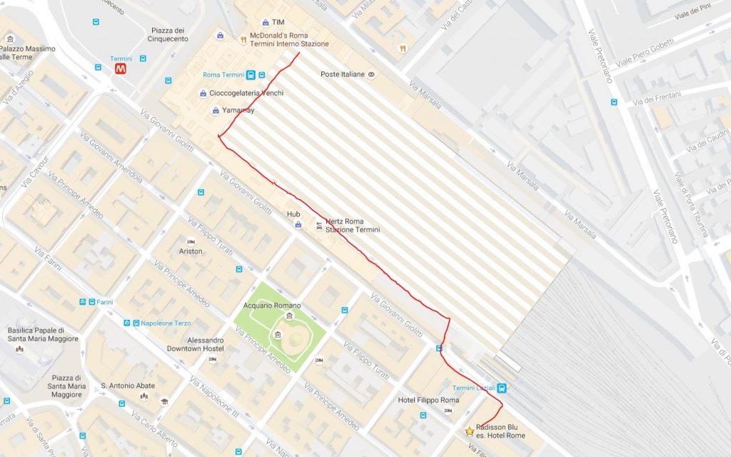 walk-train-station-radisson-blu-rome