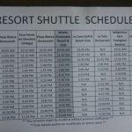 Westin Punta Cana shuttle schedule