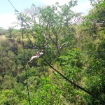 Costa Rica Ziplining across a valley