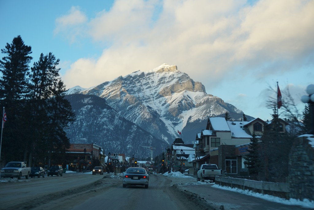 View of Banff from downtown