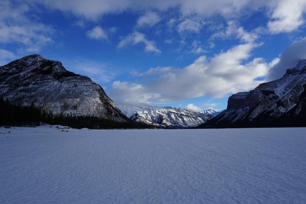 Lake Minnewanka in winter