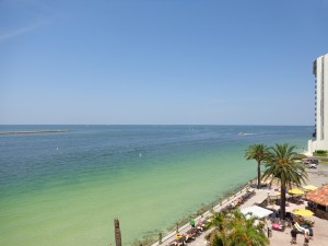 View from Holiday Inn Clearwater Beach, the ocean