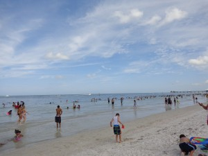 Clearwater Beach on Memorial Day