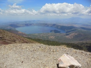 View of Lake Coatepeque from the top of the Santa Ana Volcano