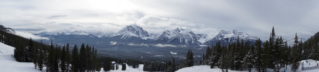 Panoramic view from Lake Louise Ski Resort