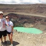 On top of the Santa Ana Volcano