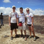 On top of Santa Ana Volcano with our amazing tour guide from Maya Triangle