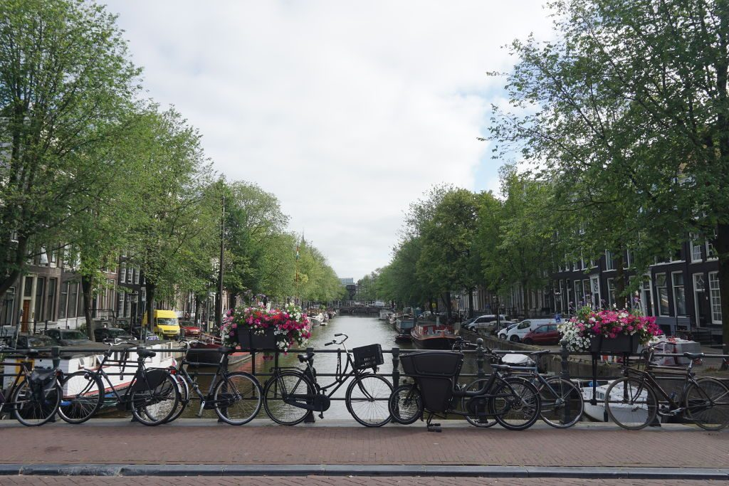 View of the canals in Amsterdam.