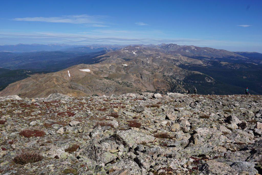 View looking north from James Peak towards Longs Peak