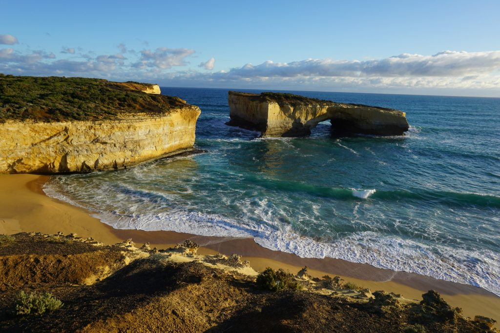 London Bridge on the Great Ocean Road almost sunset
