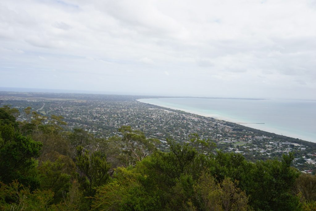 View of Port Phillip on top of Arthur's Seat