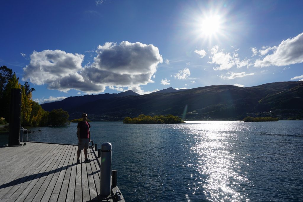 View from the dock at Hilton DoubleTree Queenstown