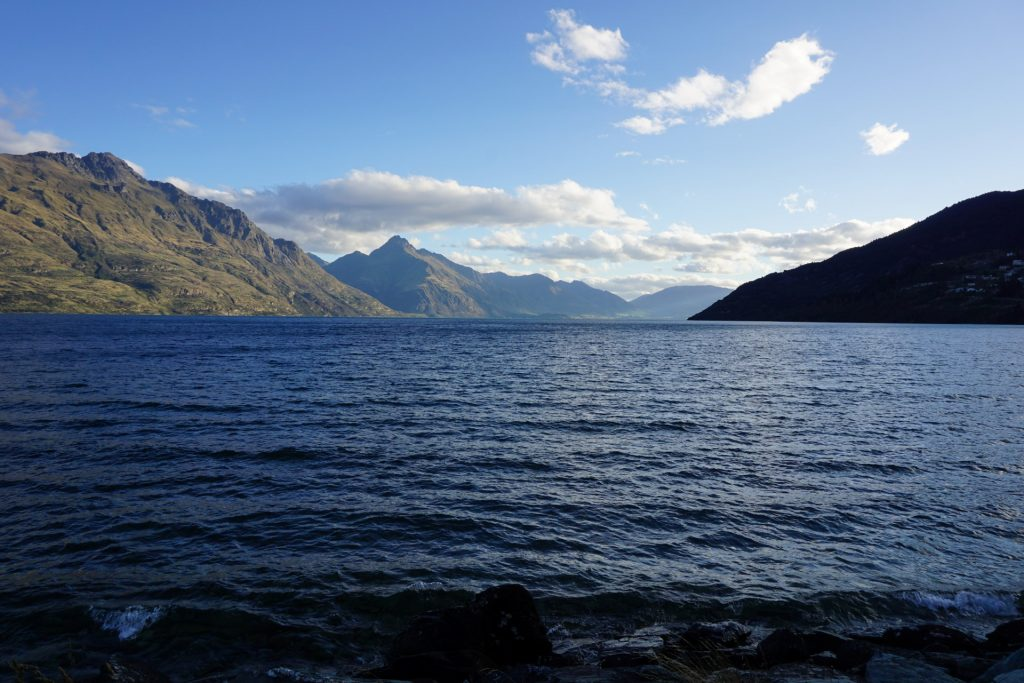 View of Lake Wakatipu from water taxi