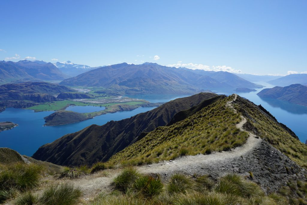 View on top of Roys Peak hike