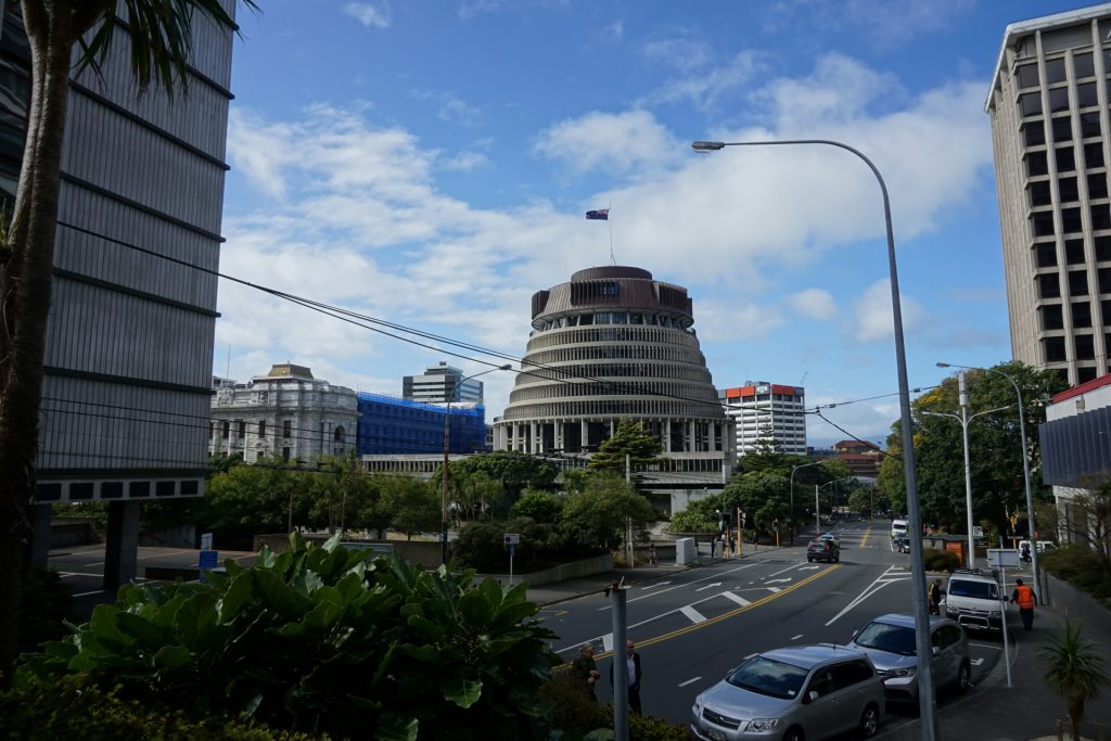 Wellington Beehive government building