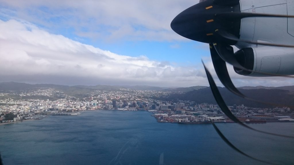 View of Wellington from our plane