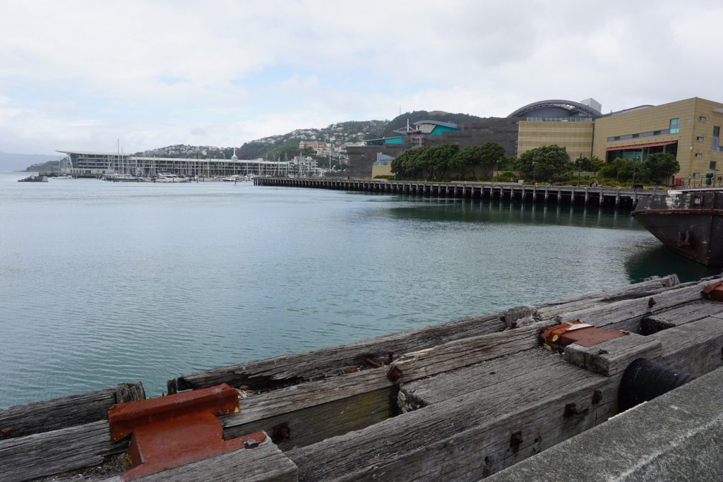 Wellington waterfront next to Museum of New Zealand Te Papa Tongarewa