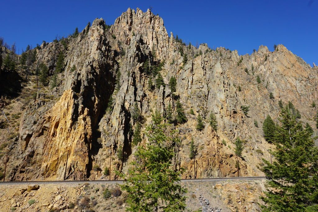 View of the Byers Canyon near Hot Sulphur Springs, Colorado.