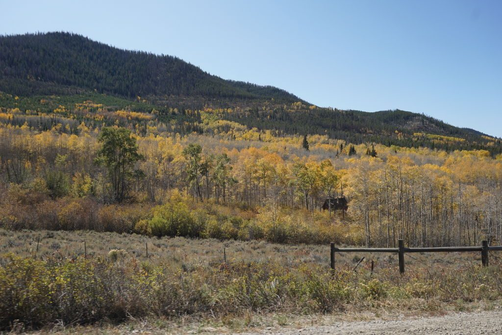 View of Cottonwood Pass near Hot Sulphur Spring in the Fall.