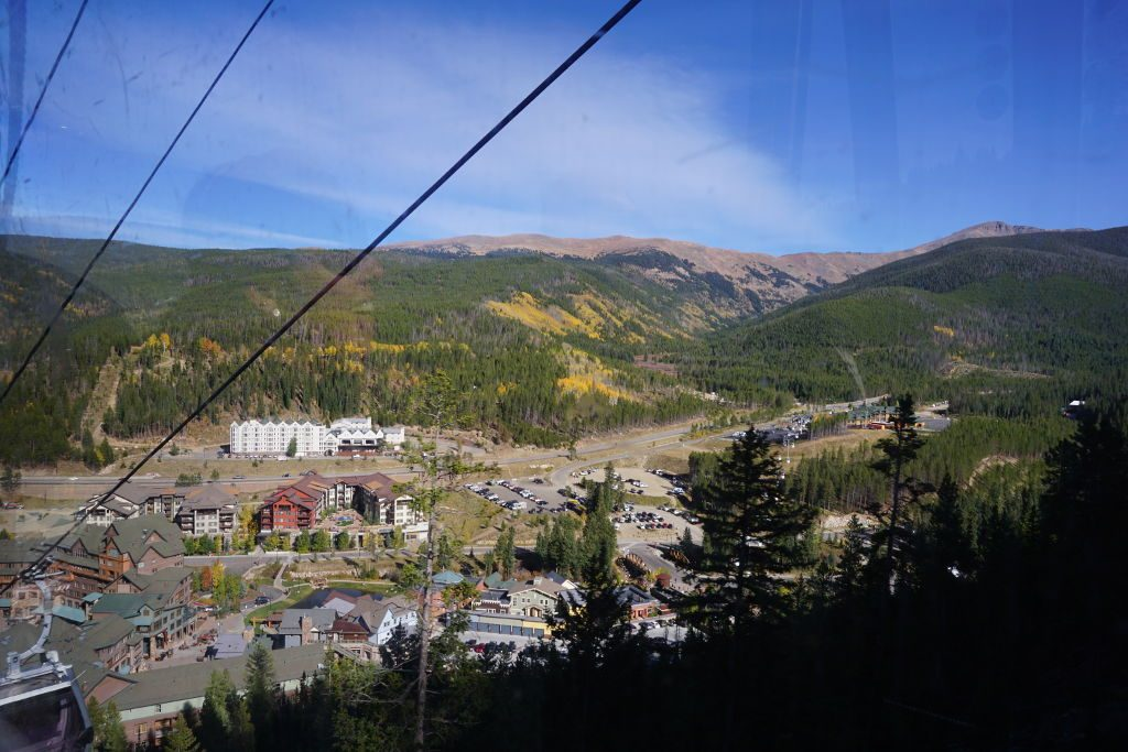 View from the top of the Winter Park Gondola in Fall.