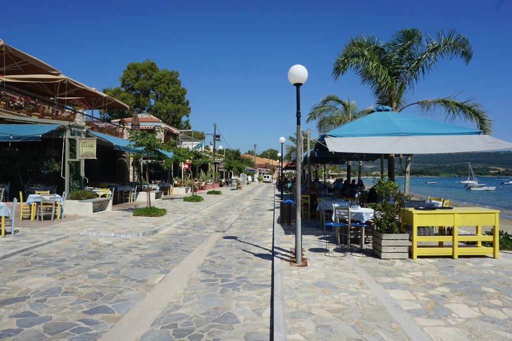 View of the restaurants in Gialova