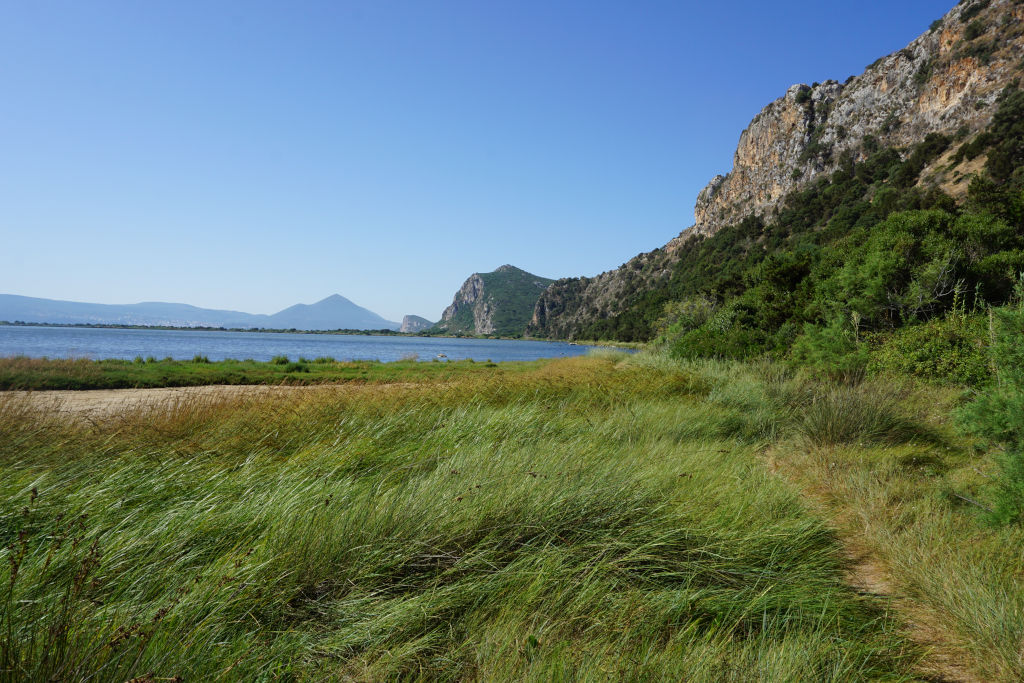 Hike along the cliffs near the Navarino Castle and Voidokilia Beach.
