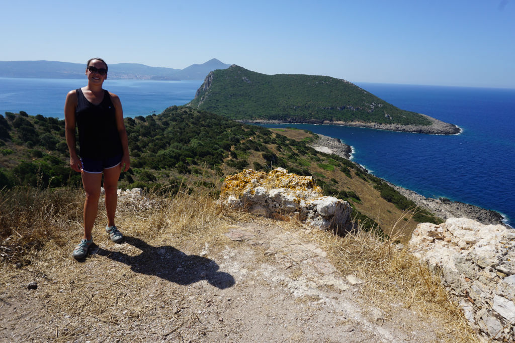View of the sea near Navarino Castle