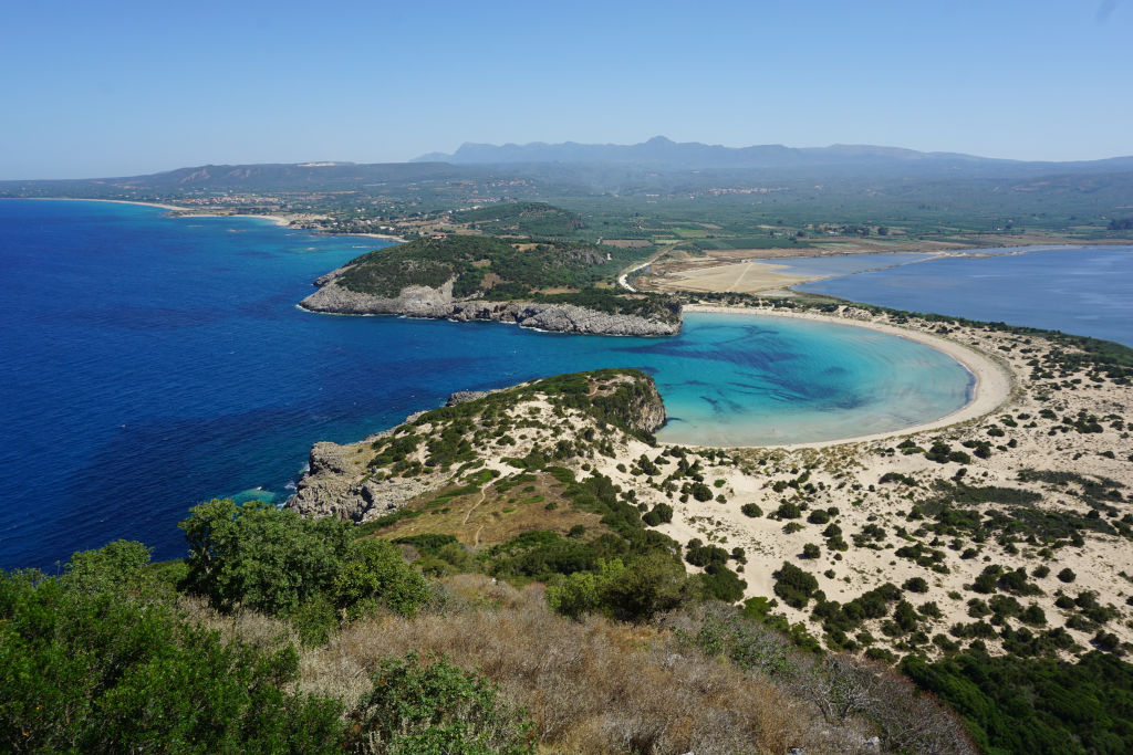View of Voidokilia Beach