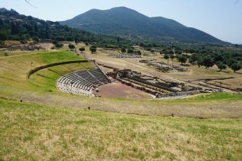 Large theater in Ancient Messene, Greece.