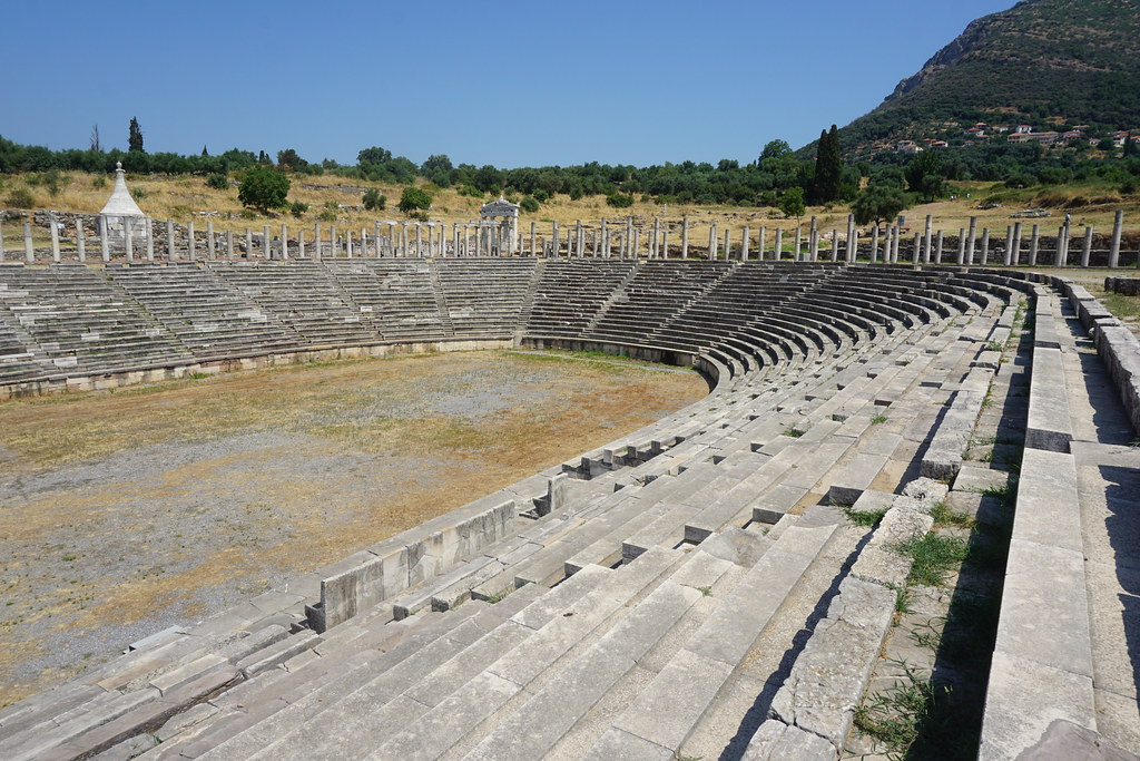 Stadium in Ancient Messene, Greece.