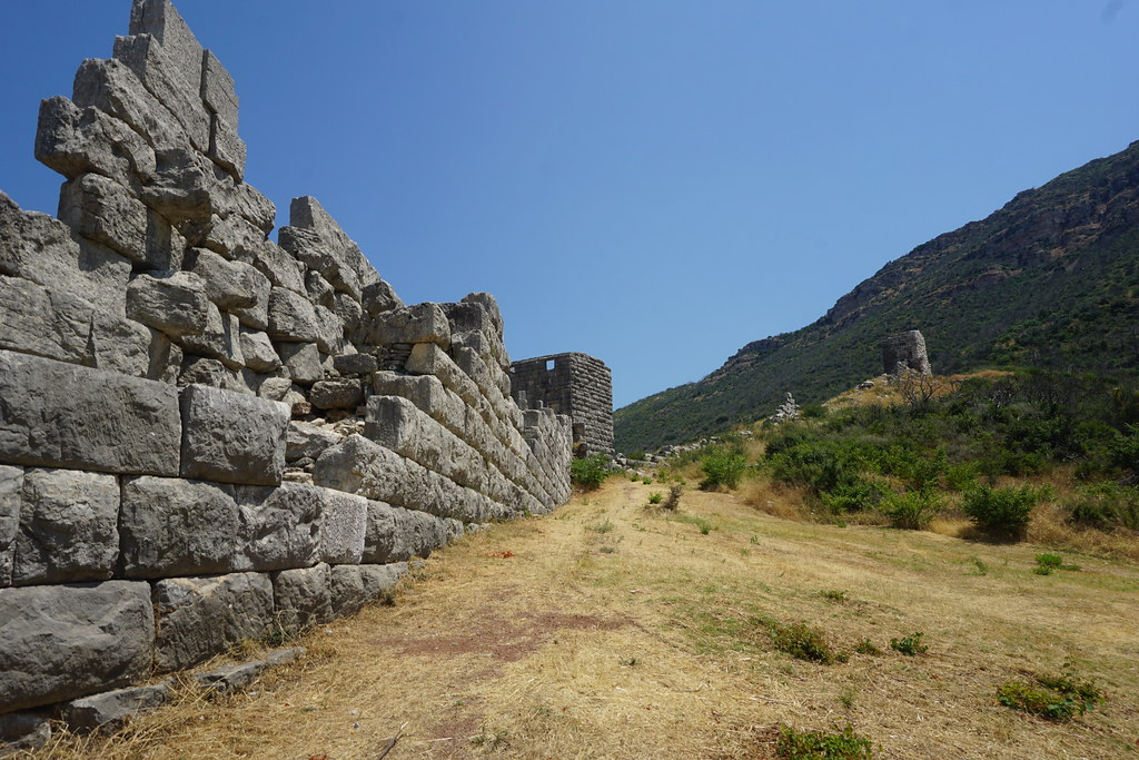The walls at Ancient Messene, Greece