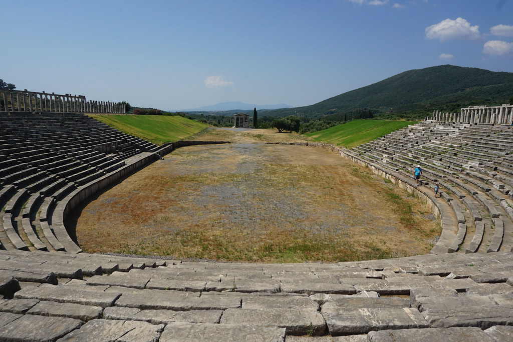 View of the stadium in Ancient Messene, Greece