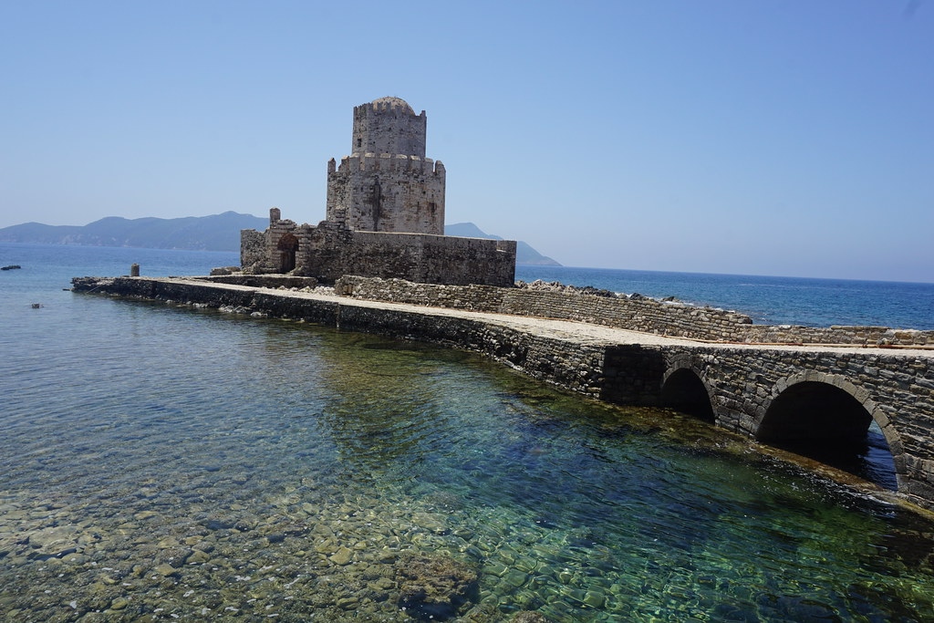 View of the Methoni Castle in Greece