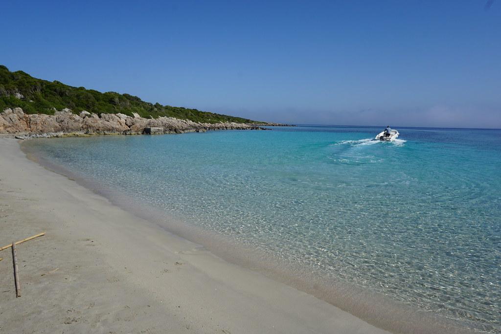 View of the beach at Sapientza Isle, Greece