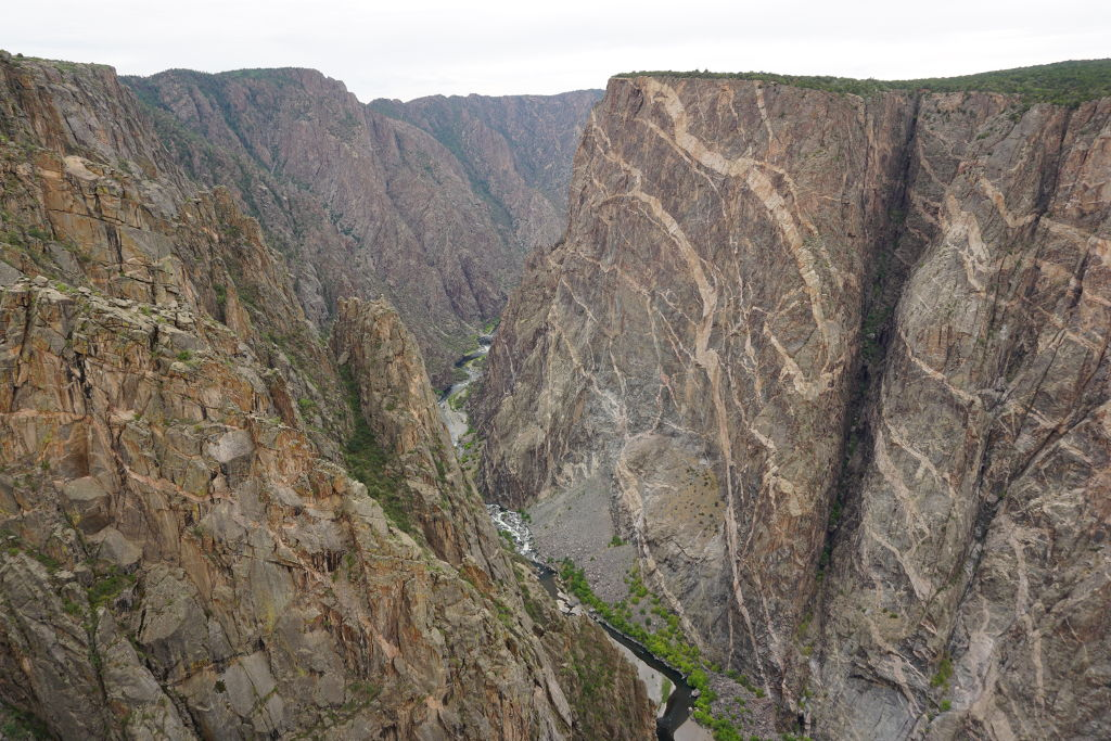 View of the Painted Wall at the Black Canyon of the Gunnison