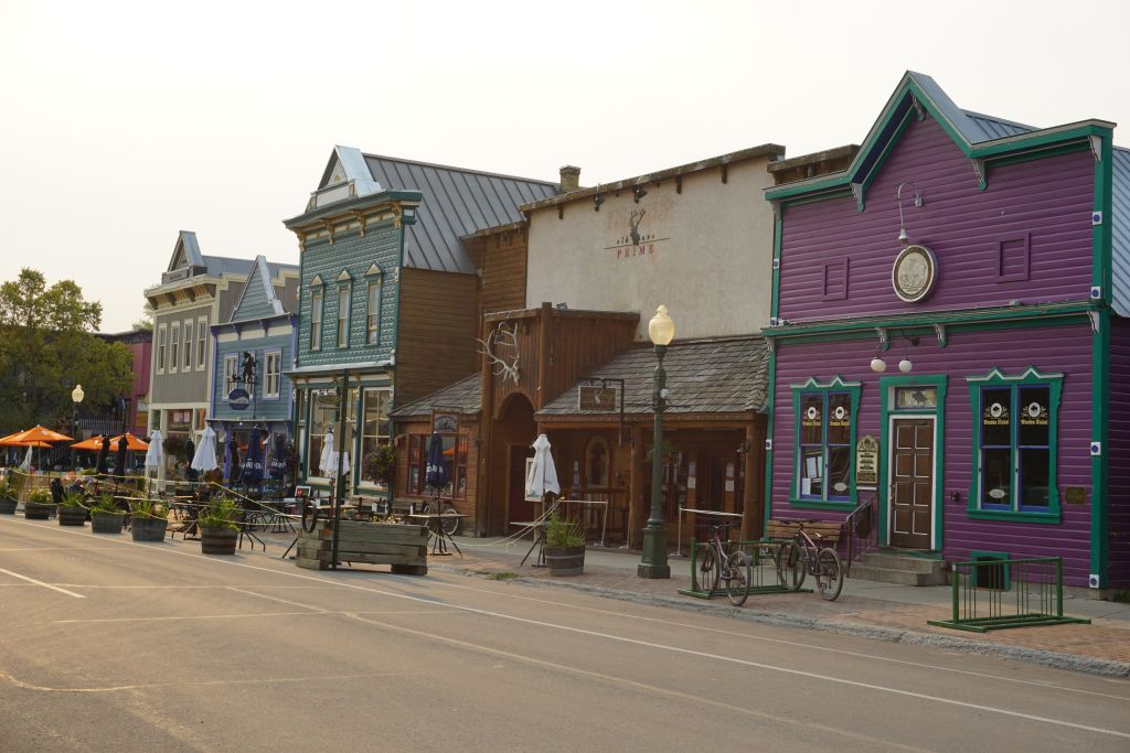 Downtown Crested Butte wildfire smoke